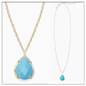 Kendra Scott Kiri teardrop Necklace in turquoise